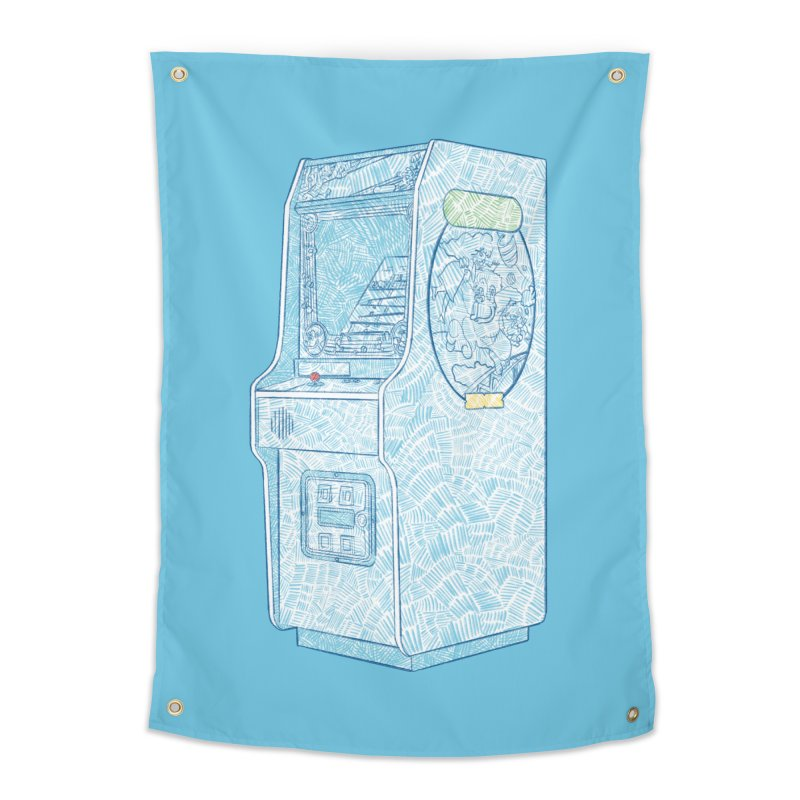Retro Arcade Cabinet Home Tapestry by Krist Norsworthy Art & Design