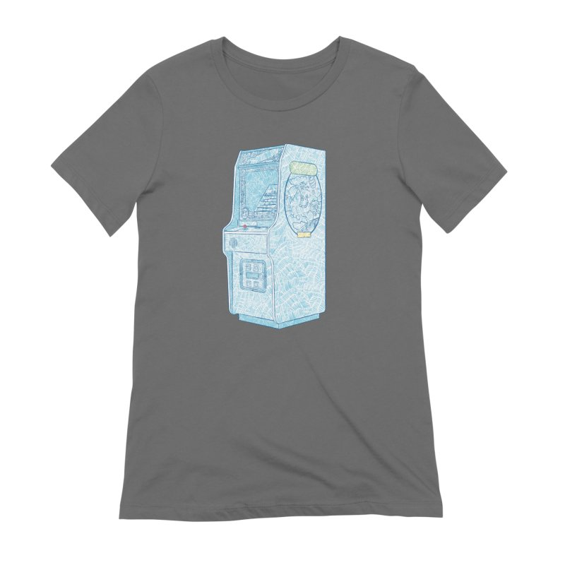 Retro Arcade Cabinet Women's T-Shirt by Krist Norsworthy Art & Design