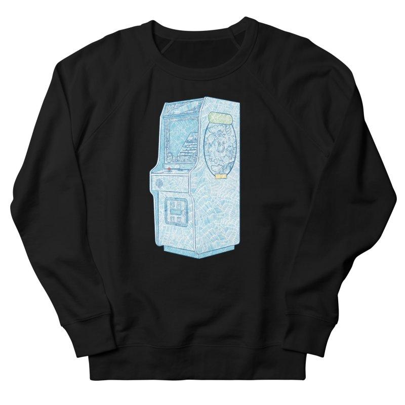 Retro Arcade Cabinet Women's French Terry Sweatshirt by Krist Norsworthy Art & Design
