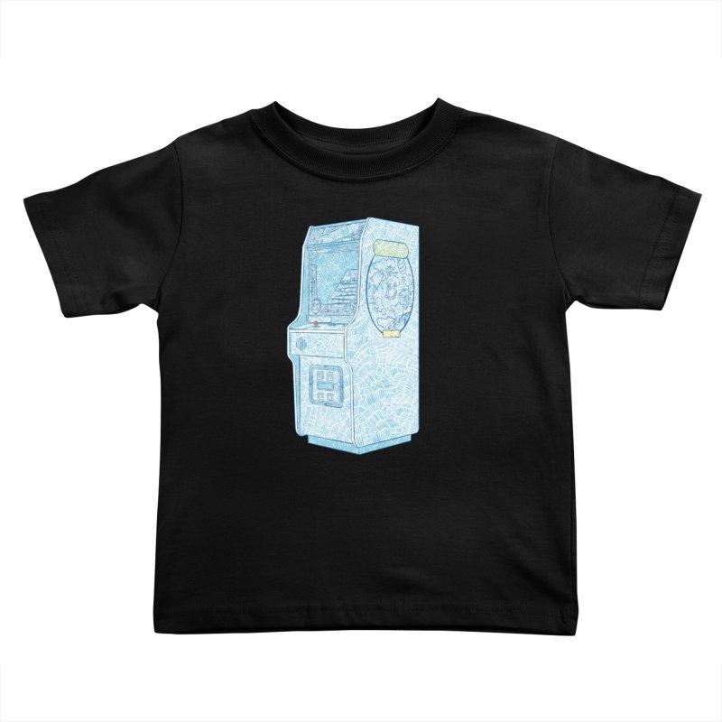 Retro Arcade Cabinet Kids Toddler T-Shirt by Krist Norsworthy Art & Design