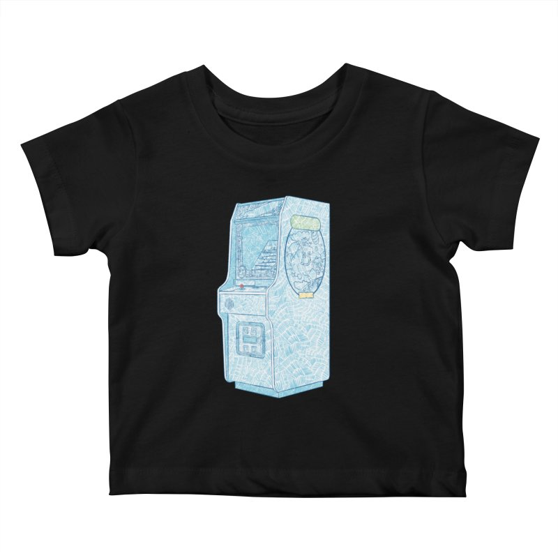 Retro Arcade Cabinet Kids Baby T-Shirt by Krist Norsworthy Art & Design