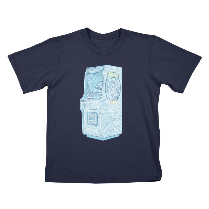 Retro Arcade Cabinet Kids T-Shirt by Krist Norsworthy Art & Design