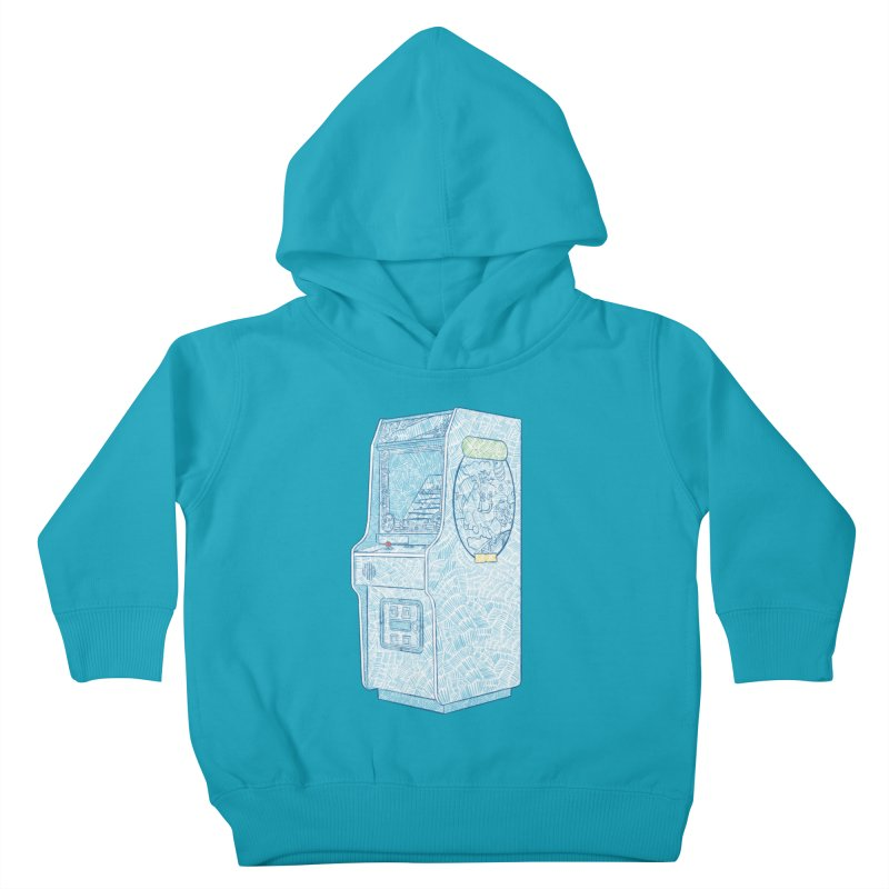 Retro Arcade Cabinet Kids Toddler Pullover Hoody by Krist Norsworthy Art & Design