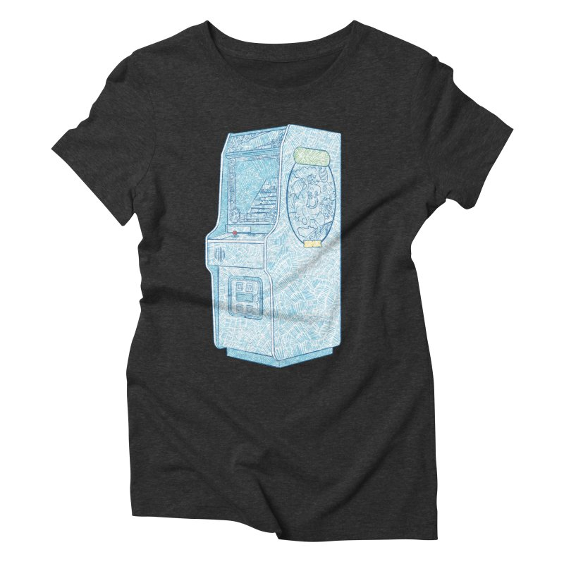 Retro Arcade Cabinet Women's Triblend T-Shirt by Krist Norsworthy Art & Design