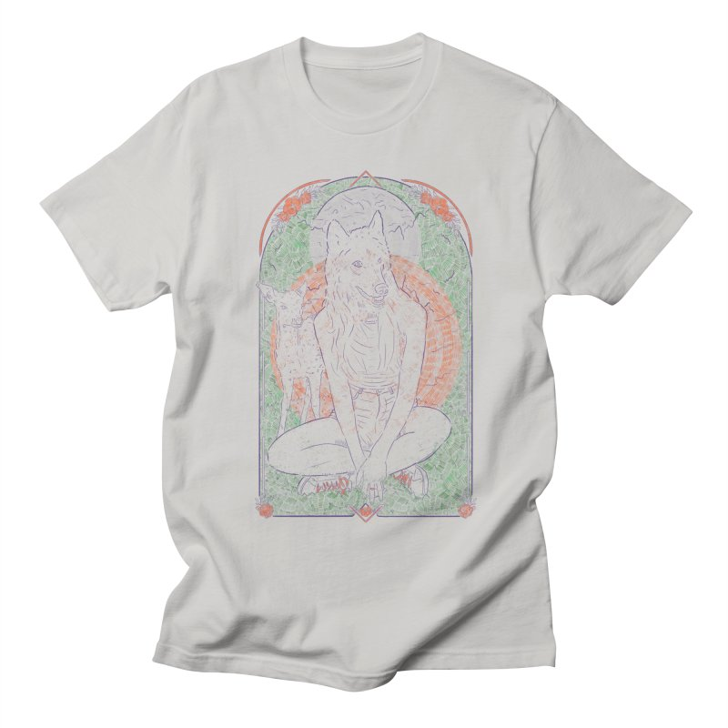 She Wolf Men's T-Shirt by Krist Norsworthy Art & Design