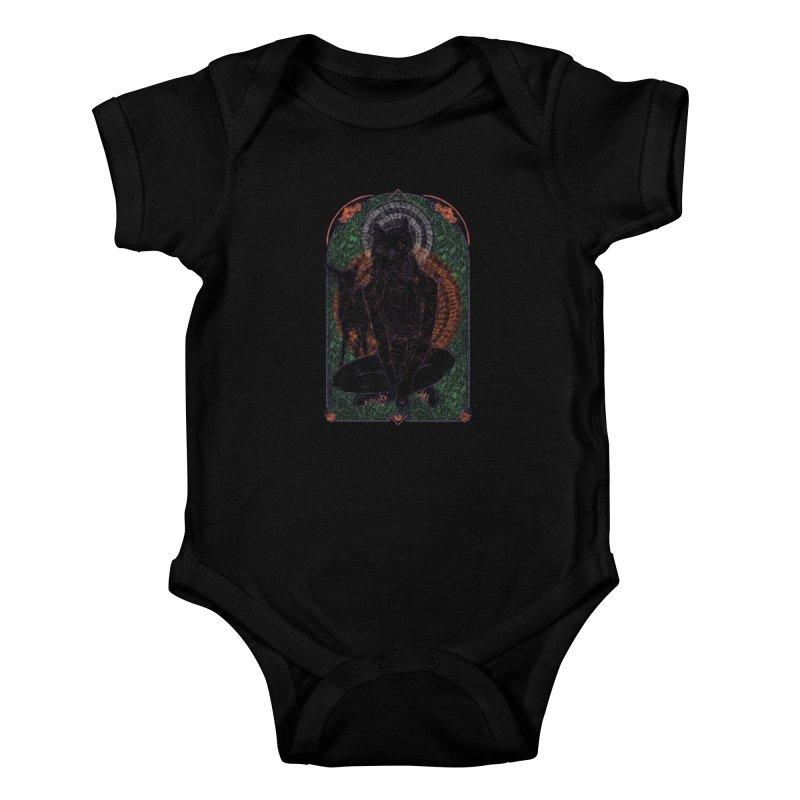 She Wolf Kids Baby Bodysuit by Krist Norsworthy Art & Design