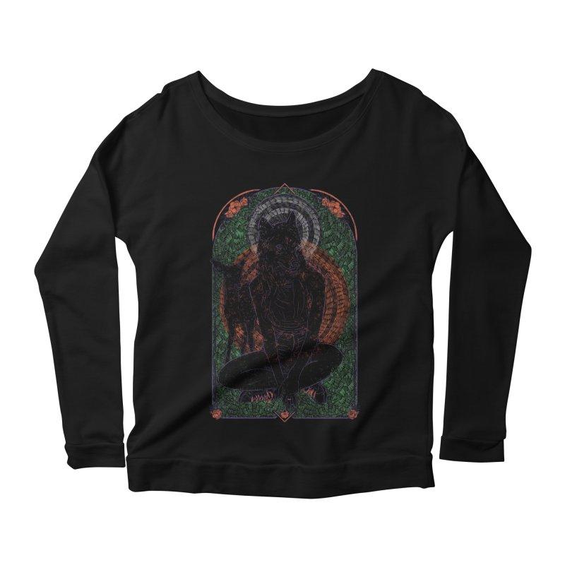 She Wolf Women's Scoop Neck Longsleeve T-Shirt by Krist Norsworthy Art & Design