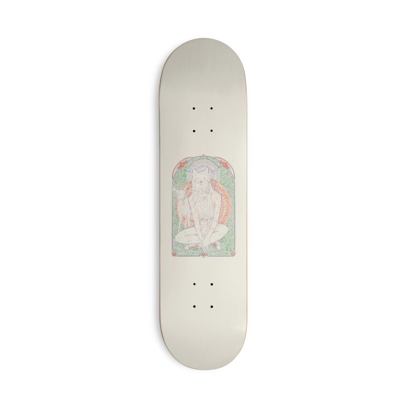 She Wolf Accessories Skateboard by Krist Norsworthy Art & Design