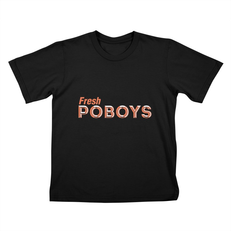Hot Boudin (Louisiana Signs Series) Kids T-Shirt by Krist Norsworthy Art & Design