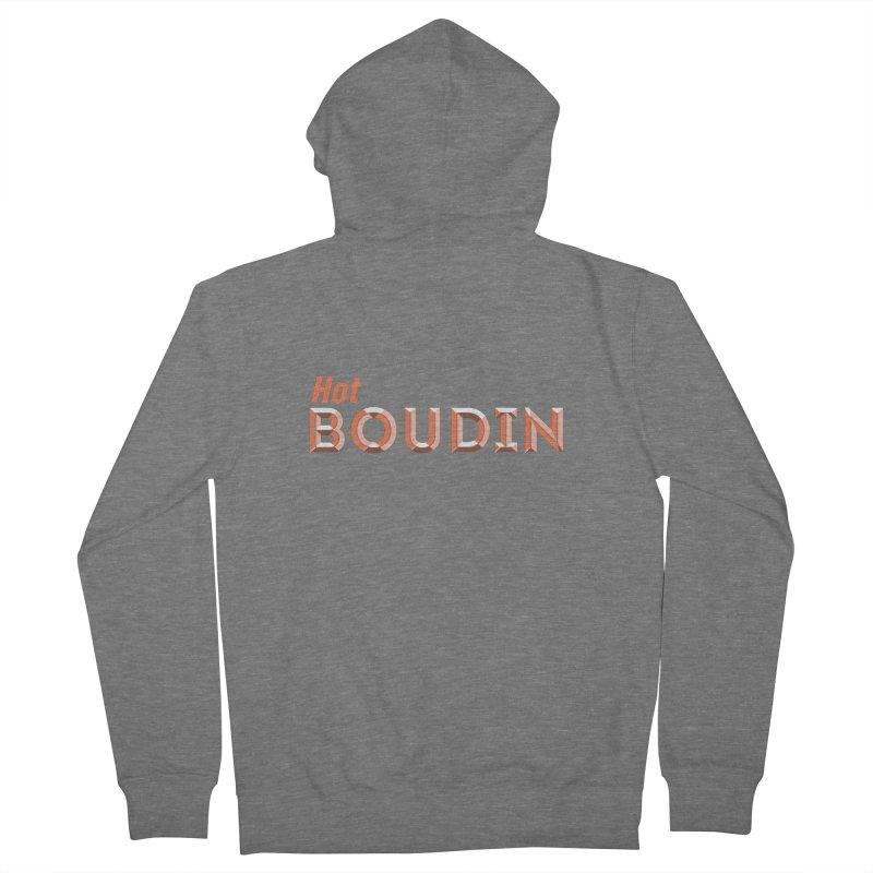 Hot Boudin  (Louisiana Signs Series) Women's Zip-Up Hoody by Krist Norsworthy Art & Design