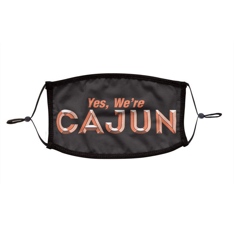 Yes, We're Cajun (Louisiana Signs Series) Accessories Face Mask by Krist Norsworthy Art & Design