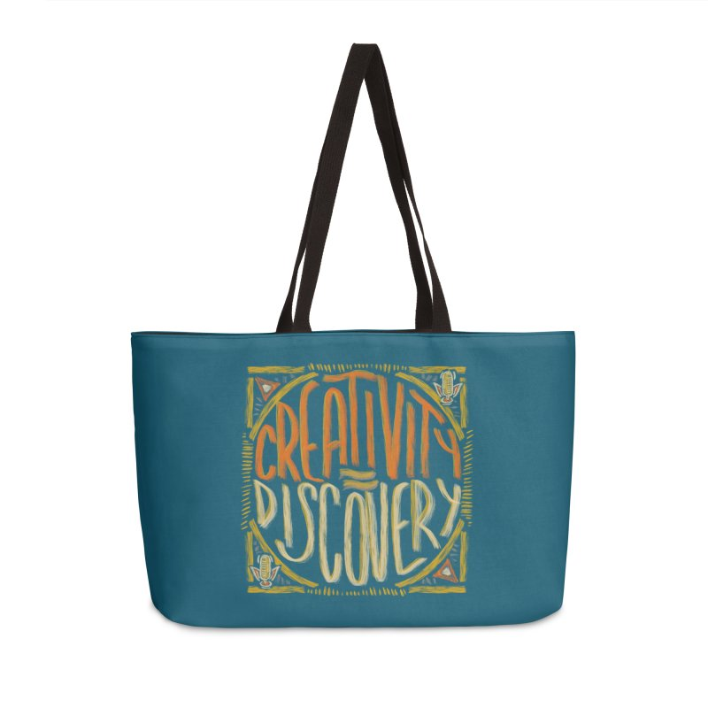 Creativity equals Discovery Accessories Bag by Krist Norsworthy Art & Design
