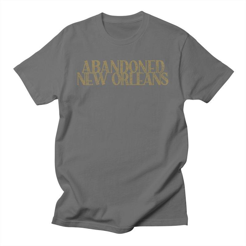 Abandoned New Orleans (gold) Men's T-Shirt by Krist Norsworthy Art & Design