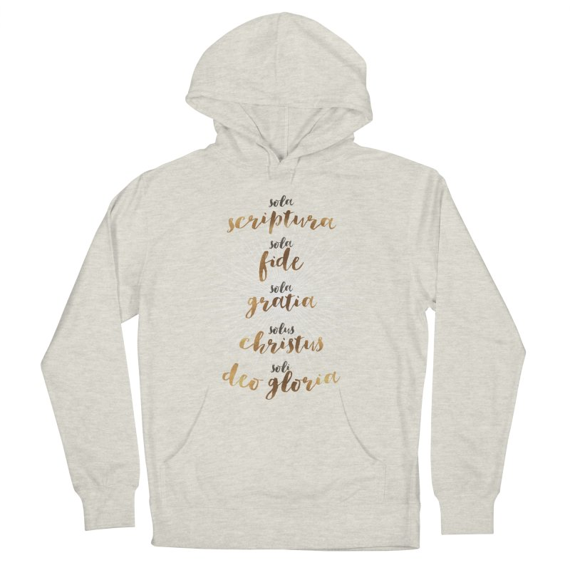 Five Solas of the Reformation Men's French Terry Pullover Hoody by Krist Norsworthy Art & Design