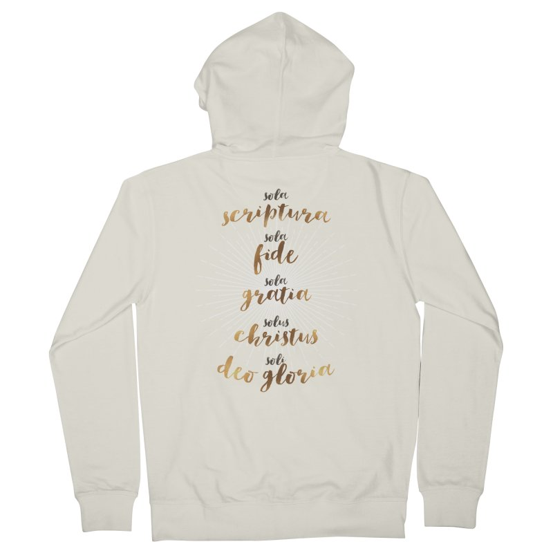 Five Solas of the Reformation Men's French Terry Zip-Up Hoody by Krist Norsworthy Art & Design