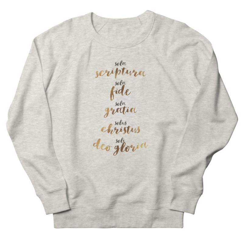 Five Solas of the Reformation Women's French Terry Sweatshirt by Krist Norsworthy Art & Design