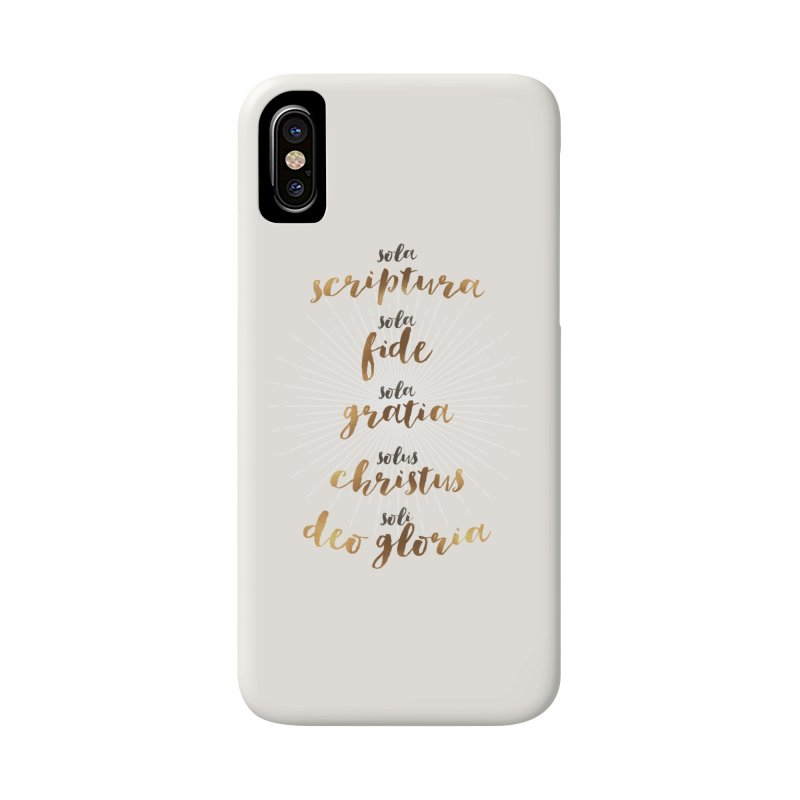Five Solas of the Reformation Accessories Phone Case by Krist Norsworthy Art & Design
