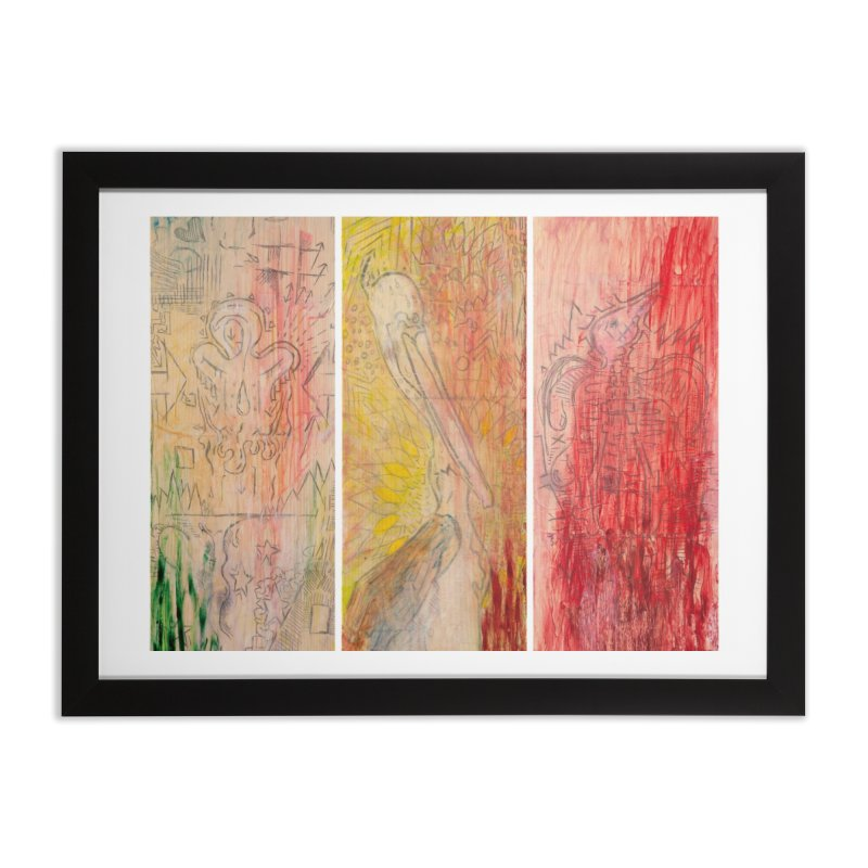 The Unborn, The Living, The Dead Home Framed Fine Art Print by Krist Norsworthy Art & Design