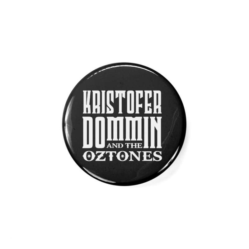 KD & The Oztones White Badge Logo Accessories Button by The Kristofer Dommin Shop