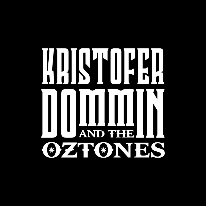 KD & The Oztones White Badge Logo Men's T-Shirt by The Kristofer Dommin Shop