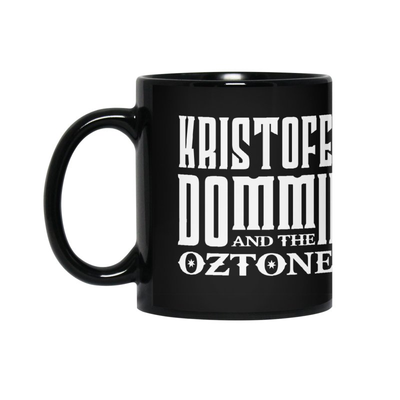 KD & The Oztones White Badge Logo Accessories Mug by The Kristofer Dommin Shop
