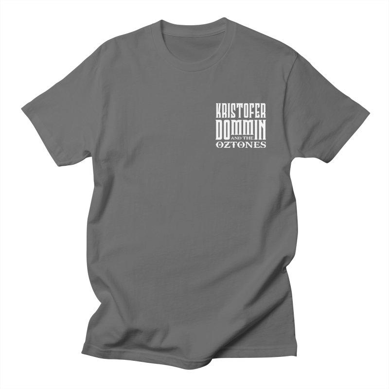 KD & The Oztones White Badge Logo Men's T-Shirt by The Kristofer Dommin Shop