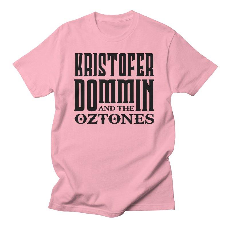 KD & The Oztones Black Logo Men's T-Shirt by The Kristofer Dommin Shop