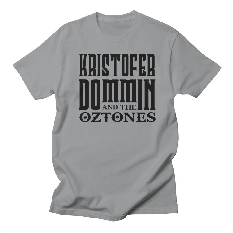 KD & The Oztones Black Logo Men's T-Shirt by The Kristofer Dommin Shop