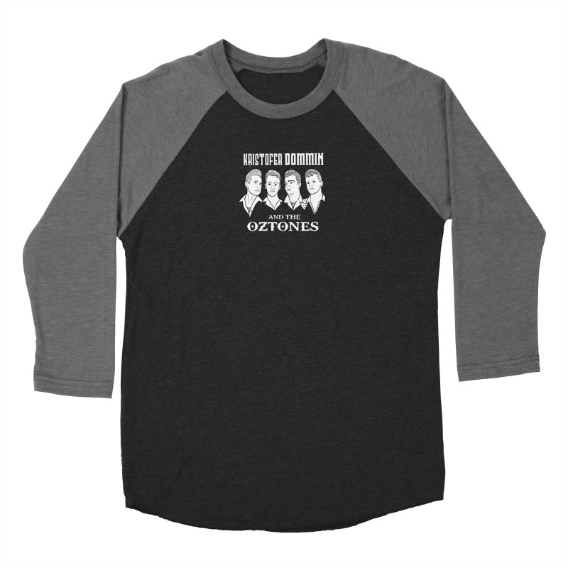 KD & The O Cartoon Faces (B&W) Men's Longsleeve T-Shirt by The Kristofer Dommin Shop