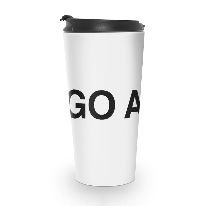 Go Away Accessories Mug by Kristy and Luke's Shop of Mostly Horrible Things