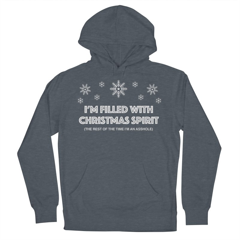 Christmas Spirit Men's French Terry Pullover Hoody by Kristy and Luke's Shop of Mostly Horrible Things