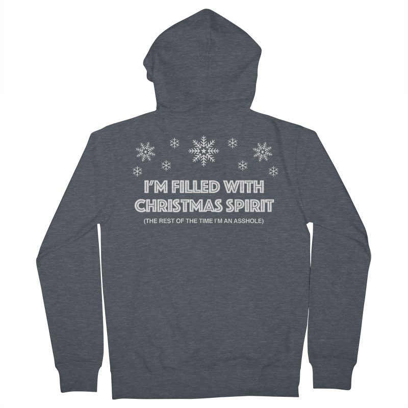 Christmas Spirit Men's French Terry Zip-Up Hoody by Kristy and Luke's Shop of Mostly Horrible Things