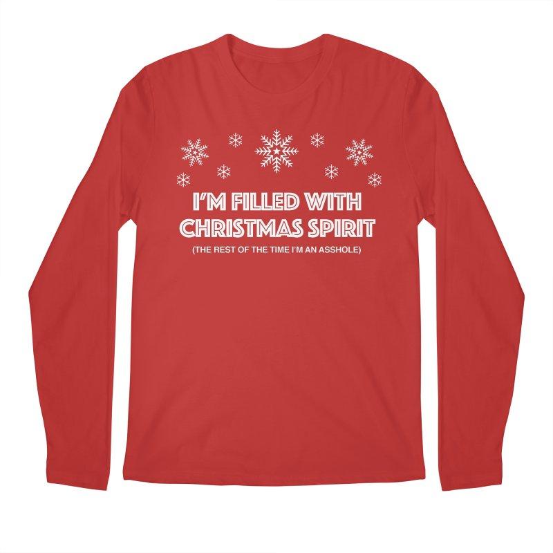 Christmas Spirit Men's Regular Longsleeve T-Shirt by Kristy and Luke's Shop of Mostly Horrible Things