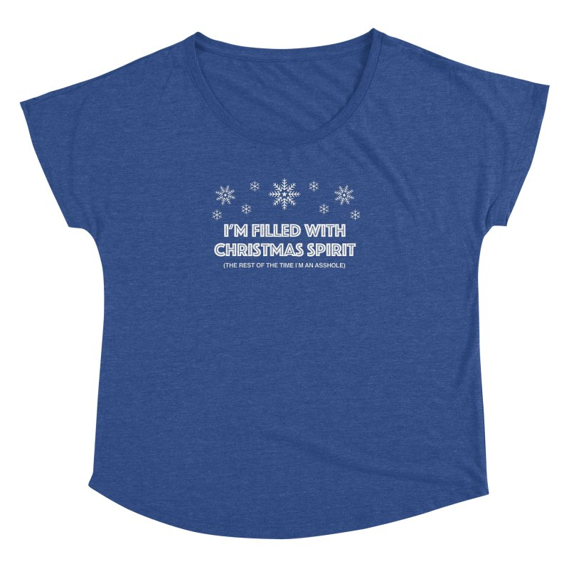 Christmas Spirit Women's Dolman Scoop Neck by Kristy and Luke's Shop of Mostly Horrible Things