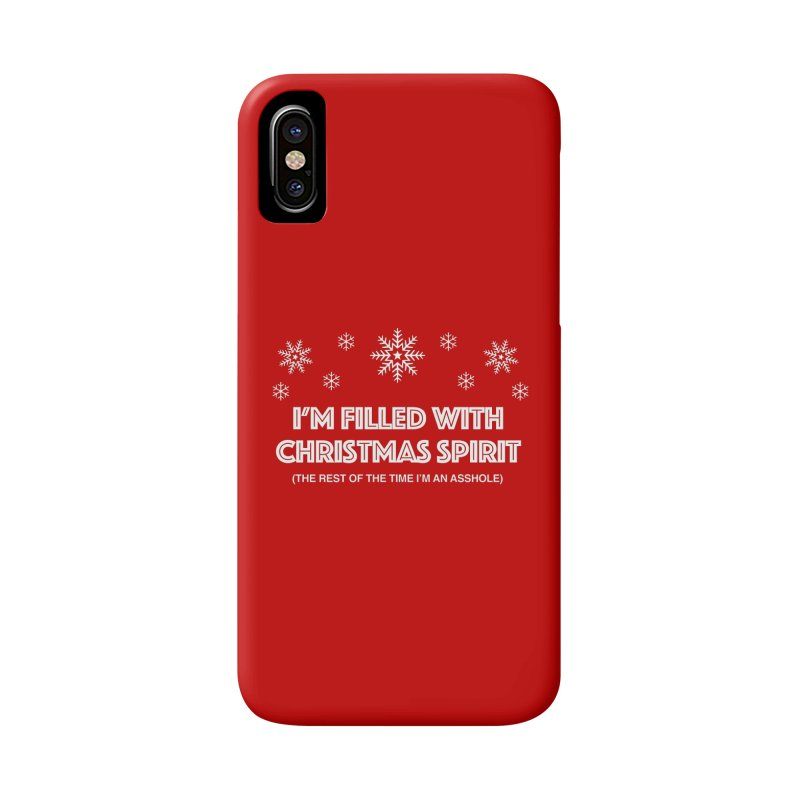 Christmas Spirit Accessories Phone Case by Kristy and Luke's Shop of Mostly Horrible Things