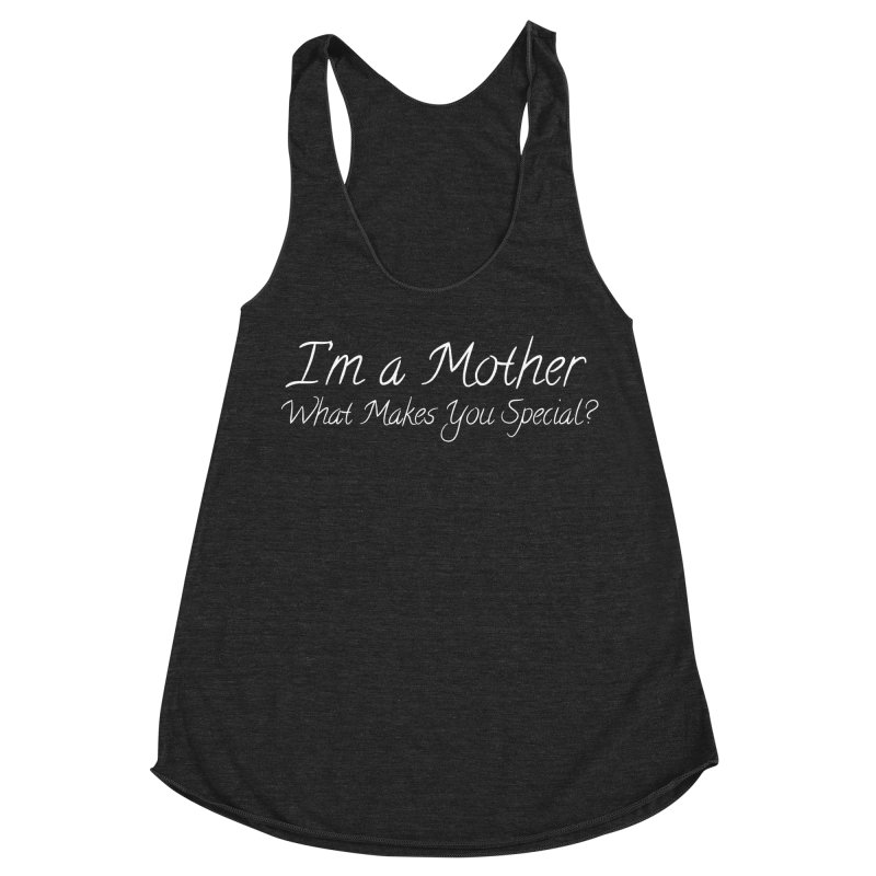 What Makes You Special? Women's Racerback Triblend Tank by Kristy and Luke's Shop of Mostly Horrible Things