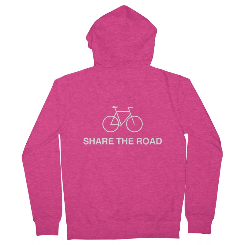 Share the Road in Women's Zip-Up Hoody Heather Heliconia by Kristy and Luke's Shop of Mostly Horrible Things
