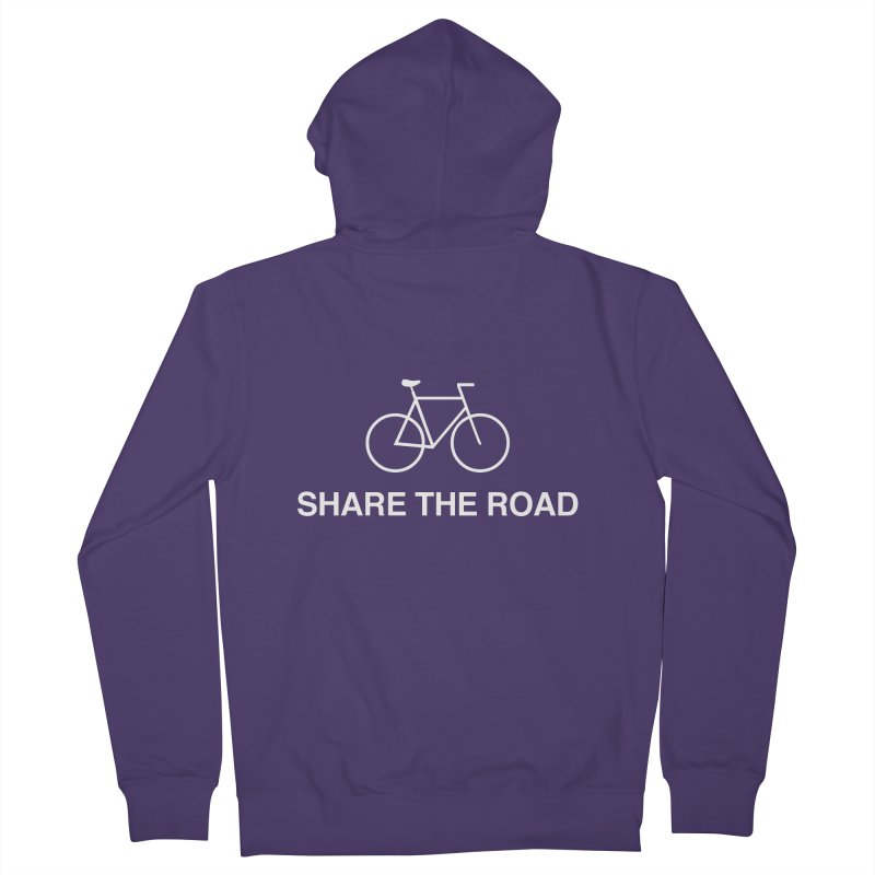 Share the Road Women's French Terry Zip-Up Hoody by Kristy and Luke's Shop of Mostly Horrible Things