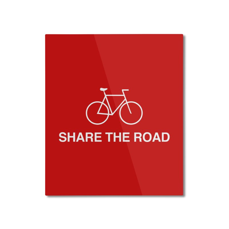 Share the Road Home Mounted Aluminum Print by Kristy and Luke's Shop of Mostly Horrible Things