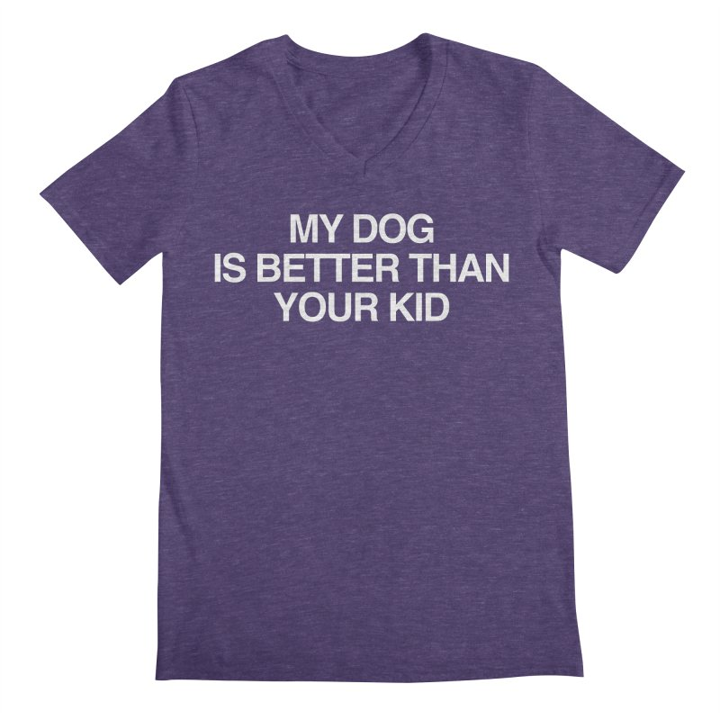 Dog > Kid Men's Regular V-Neck by Kristy and Luke's Shop of Mostly Horrible Things
