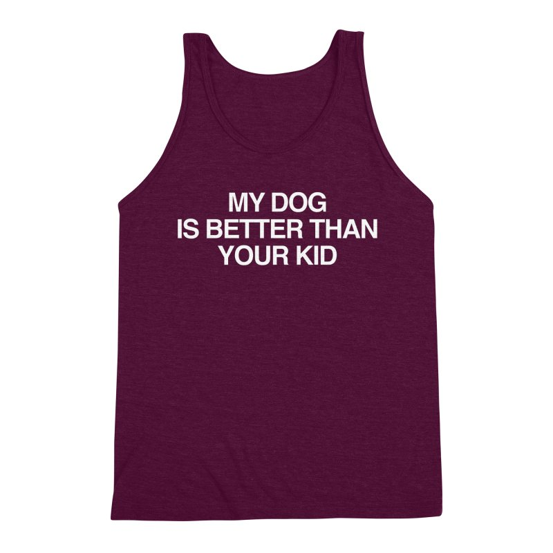 Dog > Kid Men's Triblend Tank by Kristy and Luke's Shop of Mostly Horrible Things