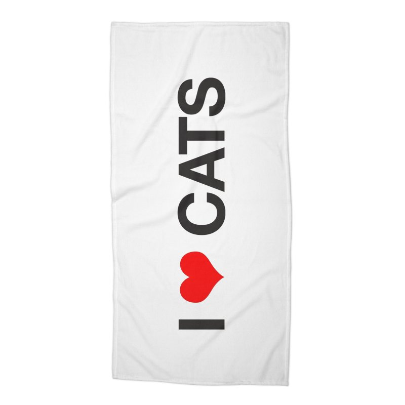 Cat Lady Accessories Beach Towel by Kristy and Luke's Shop of Mostly Horrible Things