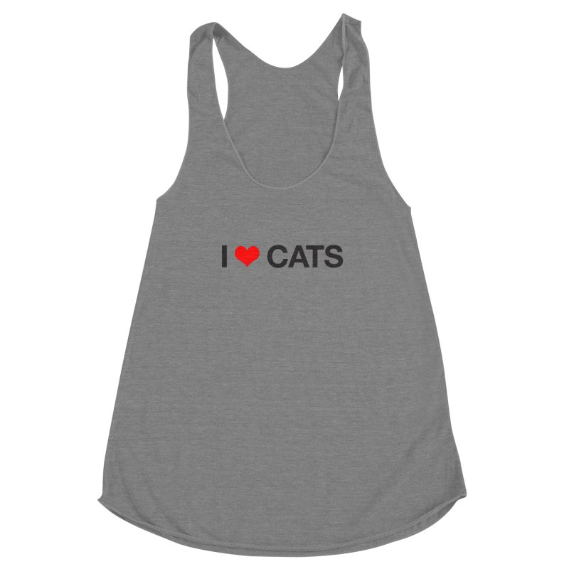 Cat Lady Women's Racerback Triblend Tank by Kristy and Luke's Shop of Mostly Horrible Things