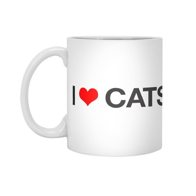 Cat Lady Accessories Standard Mug by Kristy and Luke's Shop of Mostly Horrible Things