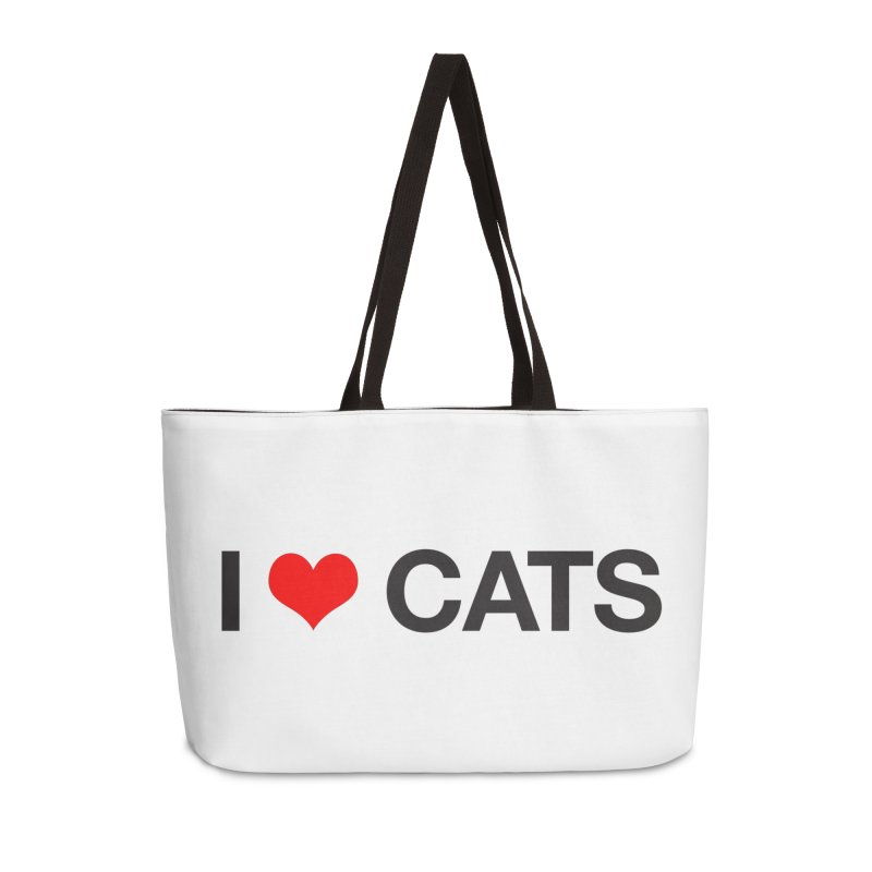 Cat Lady Accessories Weekender Bag Bag by Kristy and Luke's Shop of Mostly Horrible Things