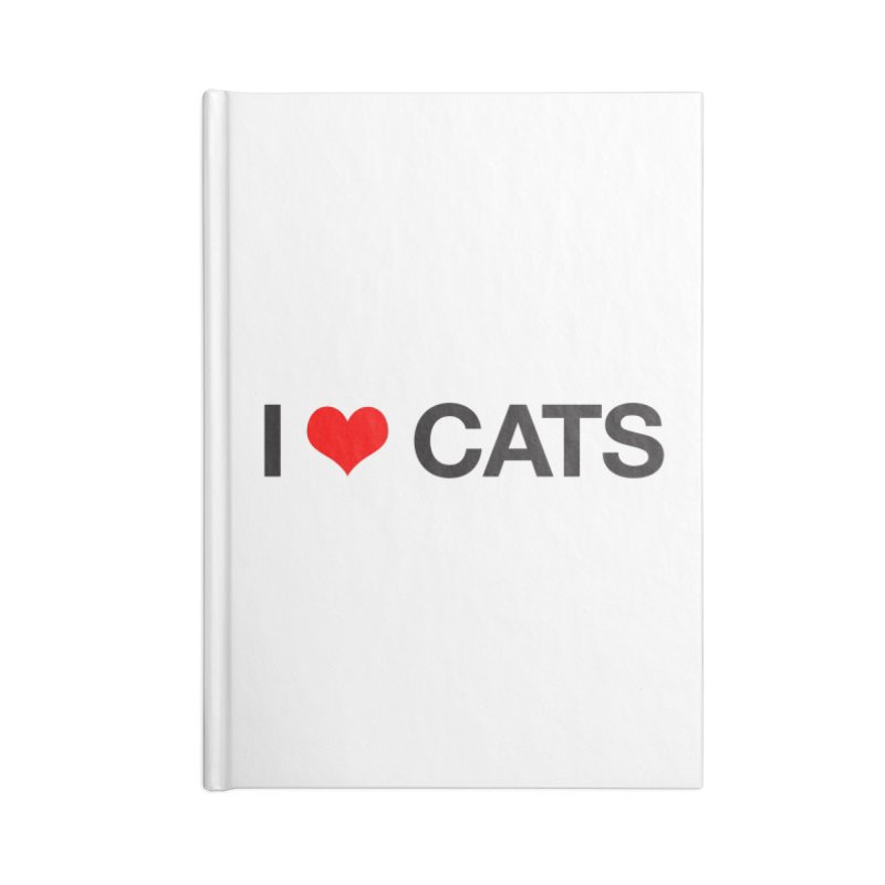 Cat Lady Accessories Lined Journal Notebook by Kristy and Luke's Shop of Mostly Horrible Things