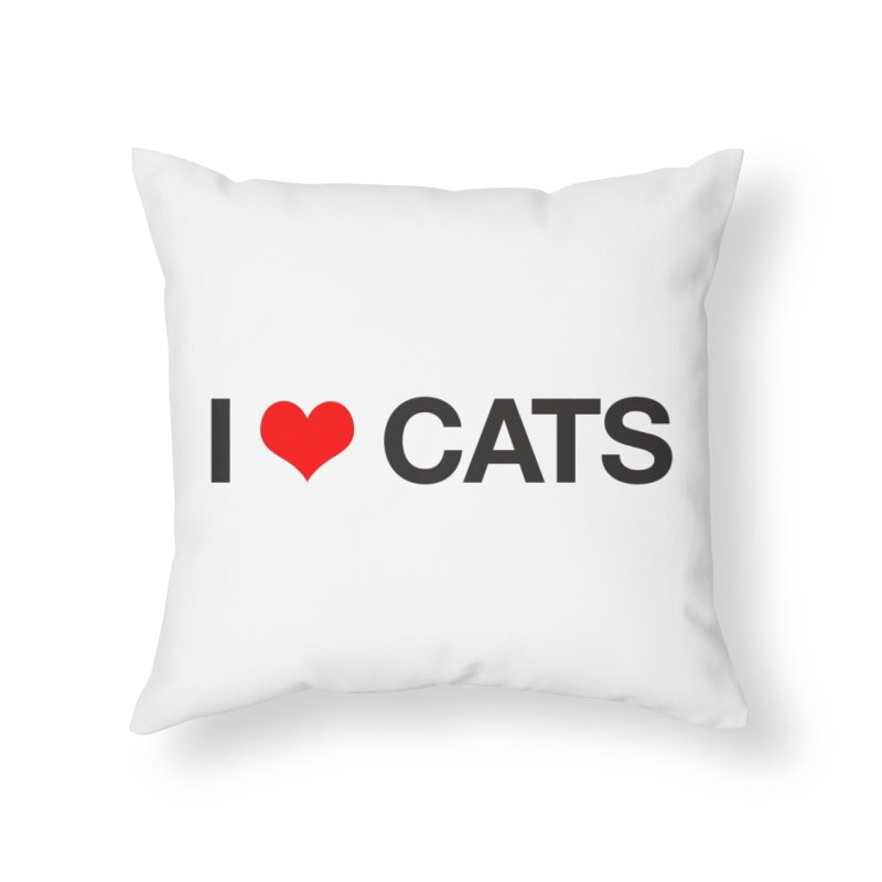 Cat Lady Home Throw Pillow by Kristy and Luke's Shop of Mostly Horrible Things