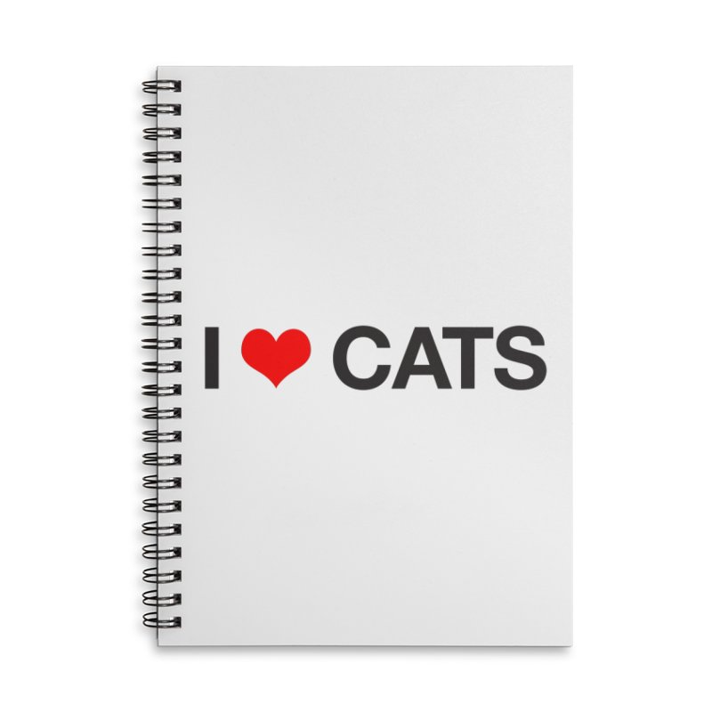 Cat Lady Accessories Lined Spiral Notebook by Kristy and Luke's Shop of Mostly Horrible Things