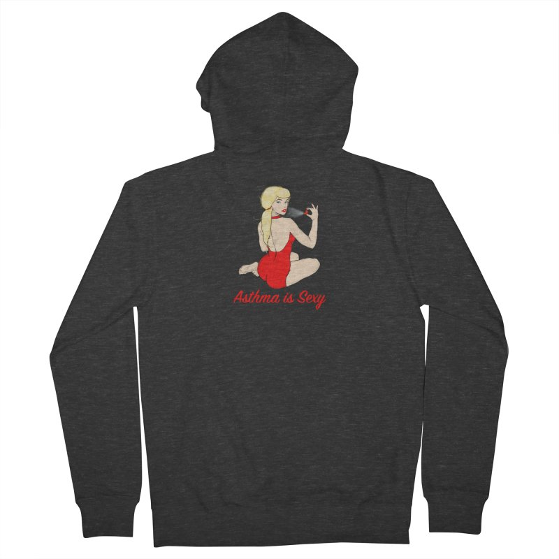 Asthma is Sexy Men's French Terry Zip-Up Hoody by Kristy and Luke's Shop of Mostly Horrible Things