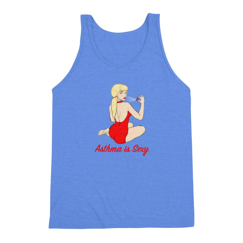 Asthma is Sexy Men's Triblend Tank by Kristy and Luke's Shop of Mostly Horrible Things